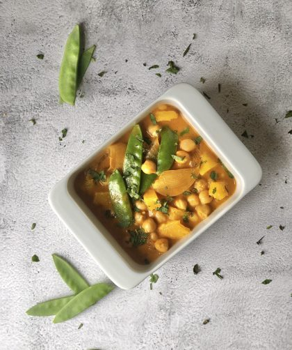 Curry de garbanzos con naranja
